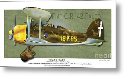 Fiat C.r. 42 Metal Print by Kenneth De Tore