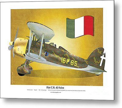 Fiat Falco C.r.42 Metal Print by Kenneth De Tore
