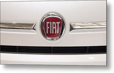 Fiat Logo Metal Print by Valentino Visentini