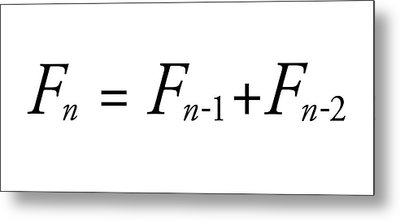 Fibonacci Sequence Equation Metal Print by Science Photo Library
