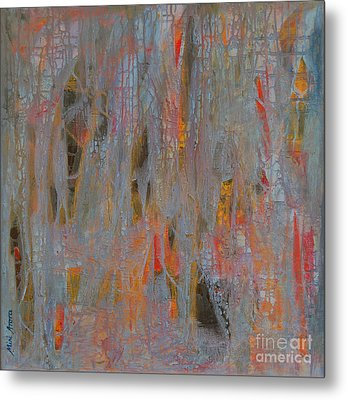 Metal Print featuring the painting Fibres Of My Being by Mini Arora
