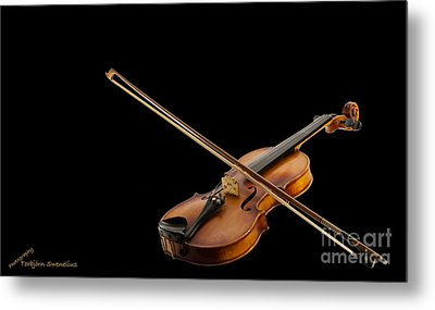 Fiddle And Bow Metal Print by Torbjorn Swenelius