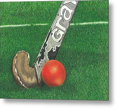 Field Hockey Metal Print by Troy Levesque