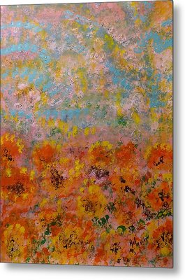 Field Of Color Metal Print by Rich Mason