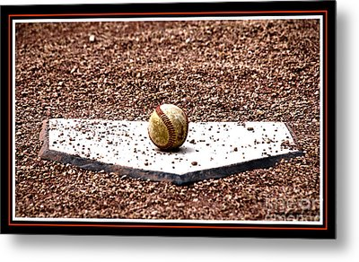 Field Of Dreams The Ball Metal Print by Susanne Van Hulst