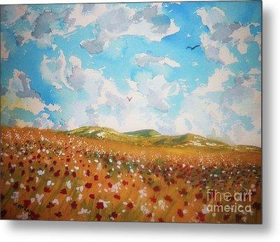 Field Of Flowers Metal Print by Suzanne McKay