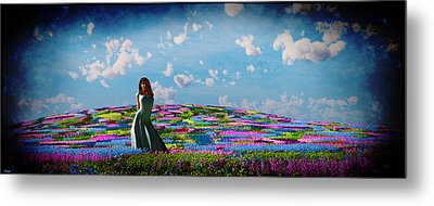 Field Of Flowers... Metal Print
