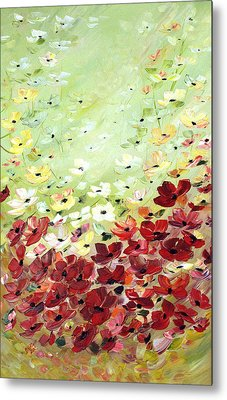 Field Of Poppies Metal Print by Dorothy Maier