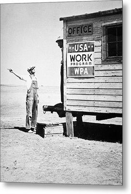 Field Office Of The Wpa Government Agency Metal Print by American Photographer