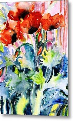Field Poppies Metal Print by Trudi Doyle