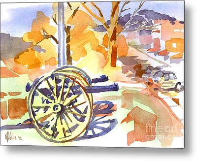 Field Rifles In Watercolor Metal Print by Kip DeVore