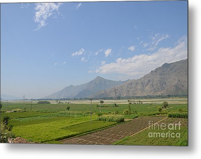 Metal Print featuring the photograph Fields Mountains Sky And A River Swat Valley Pakistan by Imran Ahmed