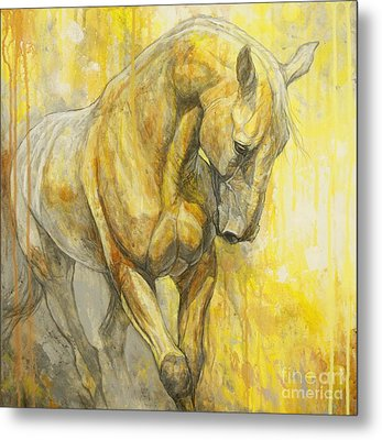 Fields Of Gold Metal Print by Silvana Gabudean Dobre