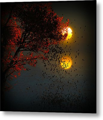 Fiery Fall... Metal Print