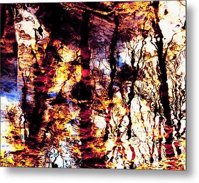 Fiery Reflections Metal Print by Shawna Rowe