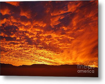 Fiery Sky Metal Print by Susan Hernandez