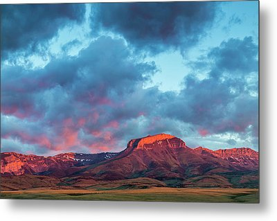 Fiery Sunrise Light Strikes Ear Metal Print by Chuck Haney