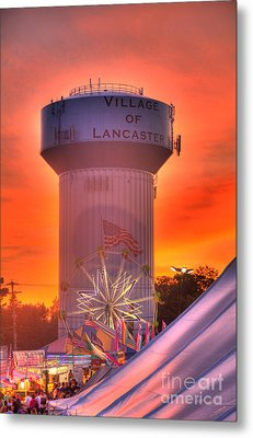Metal Print featuring the photograph Fiery Sunset by Jim Lepard