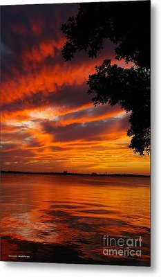 Fiery Sunset Metal Print by Tannis  Baldwin