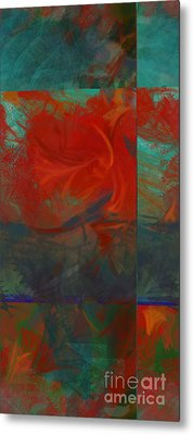 Fiery Whirlwind Onset Metal Print by CR Leyland