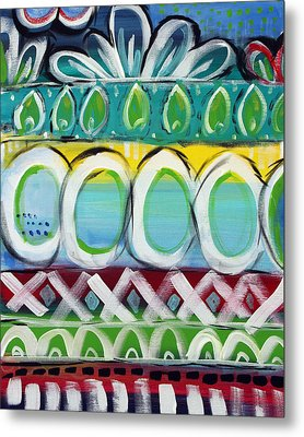 Fiesta - Colorful Painting Metal Print by Linda Woods
