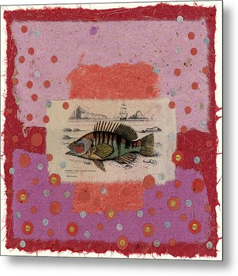 Fiesta Fish Collage Metal Print by Carol Leigh