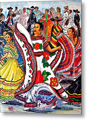 Fiesta Parade Metal Print by Marilyn Smith