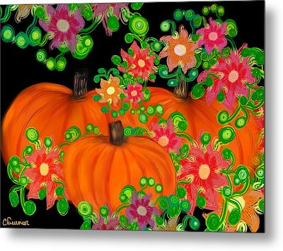 Fiesta Pumpkins Metal Print by Christine Fournier