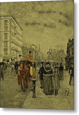 Fifth Avenue At Madison Square By Theodore Robinson 1894 Metal Print by Movie Poster Prints