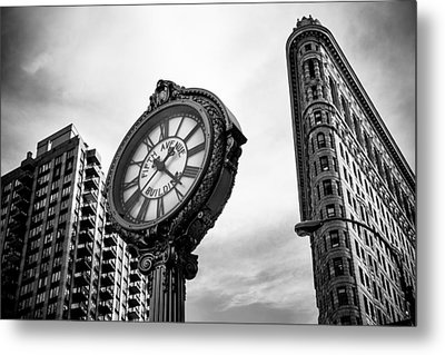 Fifth Avenue Building Clock Metal Print
