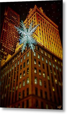 Metal Print featuring the photograph Fifth Avenue Holiday Star by Chris Lord