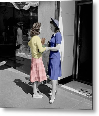 Fifties Girls Metal Print by Andrew Fare