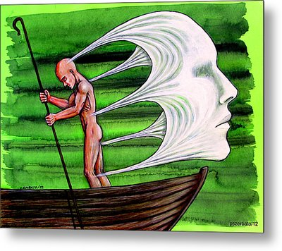 Fight Against The Current Metal Print