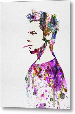 Fight Club Watercolor Metal Print