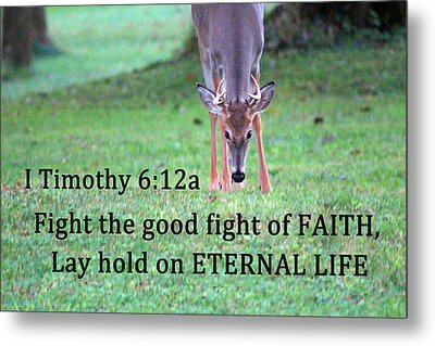 Fight Of Faith Metal Print