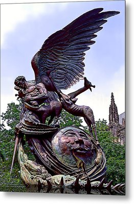 Fighting Angel Metal Print by Terry Reynoldson