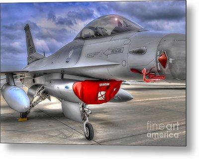 Fighting Falcon Metal Print