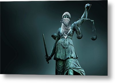 Fighting For Justice Metal Print by Smetek