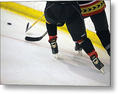 Fighting For The Puck Metal Print by Shoal Hollingsworth