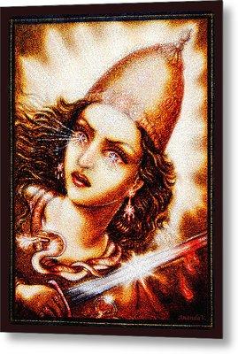 Fighting Goddess 2 Metal Print