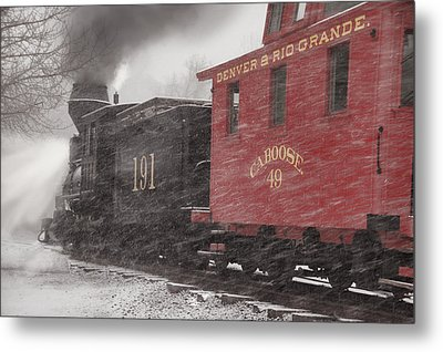 Fighting Through The Winter Storm Metal Print by Ken Smith