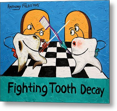 Fighting Tooth Decay Metal Print