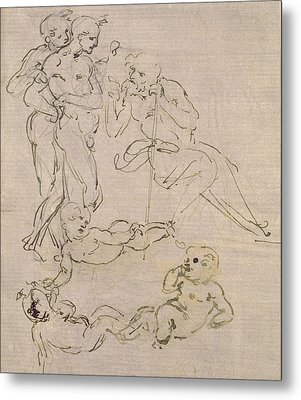 Figural Study For The Adoration Of The Magi Metal Print
