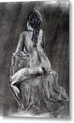Figure Drawing 2 Metal Print by Corina Bishop