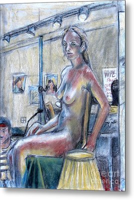 Figure Drawing- Primary Colors  Metal Print