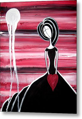Figure Painting - I Hold Your Heart In My Hands Metal Print by Laura Carter
