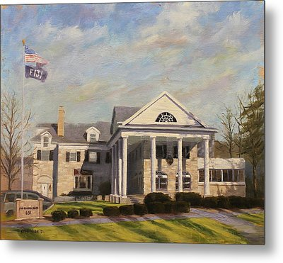 Fiji Fraternity House Iu Indiana University Metal Print by Steve Haigh