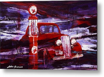 Metal Print featuring the painting Fill Er Up 1935 by John  Svenson