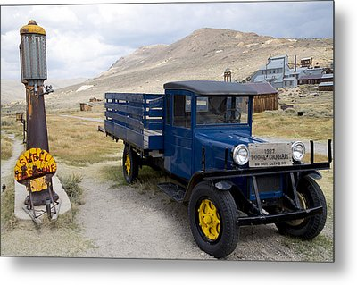 Metal Print featuring the photograph Fill 'er Up In Bodie by Jim Snyder
