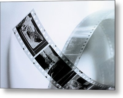 Film Strips Metal Print by Tommytechno Sweden